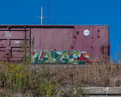 LARGE (◀︎Electric Funeral▶︎) Tags: railroad art digital train canon photography graffiti midwest nebraska paint large railway iowa fremont kansascity railcar missouri lincoln kansas traincar omaha boxcar graff aerosol freight desmoines freighttrain rollingstock councilbluffs vts benched benching xti freighttraingraffiti fr8train fr8heaven