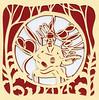 img028 (Elsita (Elsa Mora)) Tags: christmas paperart card redandwhite papercraft holidaycard papercutout elsita papercutting elsamora