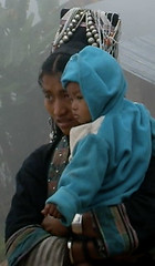 Mother and baby in the mist (Laura Jacobsen) Tags: laos hilltribe akha phongsaly phongsali