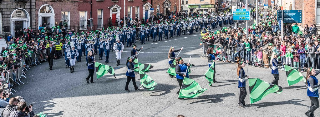 THE OLD DOMINION UNIVERSITY MONARCH MARCHING BAND [ST. PATRICK'S PARADE 2016]-112628