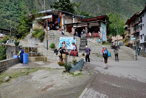 Tour group in Aguas Calientes in Peru-01 5-25-15