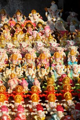 Gaapati Gallore (Shrimaitreya) Tags: india colors ganesha god indian ganesh maharashtra hindu hinduism pune multitude ganapati