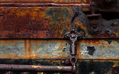 Security (Junkstock) Tags: california old color texture industry closeup photography photo junk rust iron industrial photos decay machine rusty textures machinery photographs photograph rusted weathered aged artifact distressed corrosion artifacts decayed corroded relic rustyandcrusty oldstuff craquelure perris