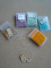 Sunglasses (Lea et le chat Malo) Tags: beads miyuki beading delicas
