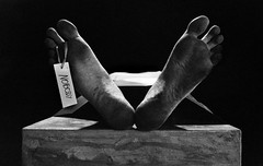 nobody (polo.d) Tags: feet monochrome dead foot death sadness noir body grain horror drama morgue