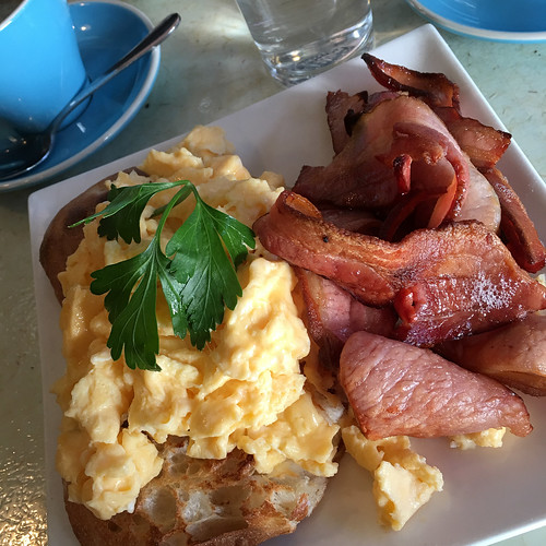 Saturday bacon and egg breakfast at The Pound Cafe in South Yarra