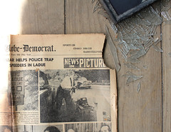 News in Pictures (plasticfootball) Tags: abandoned rural newspaper brokenglass missouri urbex ladue radargun stlouisglobedemocrat 4011house