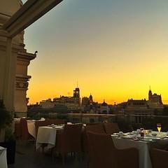 """Cenar con estas vistas """"es bien... (dpereirapaz) Tags: madrid sunset sky sun cibeles ayuntamiento skyporn uploaded:by=flickstagram instagram:photo=10393811680467218231852545"""
