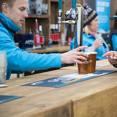 Kyle at the bar (Adnams) Tags: beer theboatrace ghostship 2016 adnams furnivallgardens thebnymellonboatraces