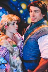 Rapunzel and Flynn (dolewhip) Tags: disneyland disney rapunzel fantasyland tangled flynnrider tangledmeetandgreet tangledtower