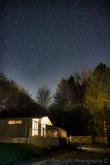 Night Sky Over Esthwaite (First_Light_Photography) Tags: trees sky lake night dark stars star log cabin district lodge clear astrophotography cumbria ambleside hawkshead esthwaite