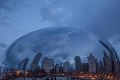 The Bean II-4605 (Mary Pat Carr) Tags: chicago nikon downtown dusk bean cloudgate d610