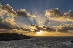 Rays over Carreg Onnen Bay II (K_D_B 2 Million views. Thanks) Tags: sunset sea sky cloud water wales canon rays pembrokeshire kdb carregonnenbay 7dmkii sigma1770f28dcosmacro