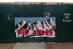 Andes Hoarding (nicknormal) Tags: street streetart newyork mountains art graffiti us mural unitedstates garage hoarding andes longislandcity plywood rollgate