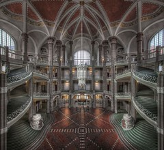 Geometry Cathedral (Hitman.47 (BuriedDreams.nl)) Tags: old windows colour green castle beautiful fairytale stairs mirror hall stair cathedral great columns engineering palace forbidden explore artnouveau atrium imaginary grandeur symmetrie flickrexplore