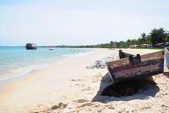 Corumbau - Bahia (renataml) Tags: summer brazil dog praia beach brasil boat nikon sombra playa perro cachorro bahia ba baia