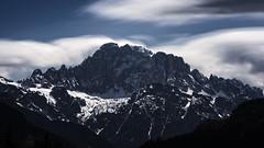 Monte Civetta (Ezio@Hsu) Tags: longexposure blue sky italy cloud white mountain snow clouds dark europe sony daytime monte mont dolomites dolomiti veneto civetta 1635za emount