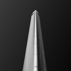 de boeg (gkphotography.lt) Tags: city light sky urban blackandwhite abstract holland monument netherlands monochrome lines vertical square one rotterdam war fuji geometry pillar minimal minimalism shape minimalistic silverefexpro fujixt1