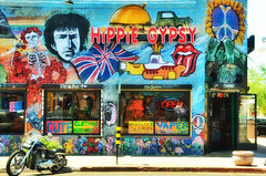 An urban riot of colors.... (tomk630) Tags: morning arizona urban building colors store hippie gypsy