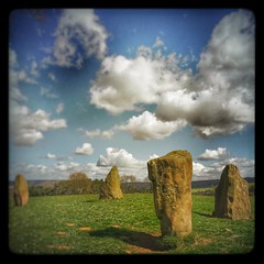 Nines Stones Close Stone Circle, Derbyshire. (scott.simpson99) Tags: sky cloud outdoors countryside derbyshire pagan stonecircle megalith thepeakdistrict 366 scottsimpson iphone6 hipstamatic