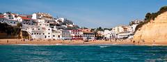 Welcome To Carvoeiro (TablinumCarlson) Tags: leica house praia beach portugal strand boot coast boat europa europe haus atlantic m summicron m8 28 lagoa algarve antenne lido satelite kste bote atlantik carvoeiro satelit