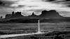 MV (realitygui) Tags: bw iconic landscape monumentvalley usa milemarker13 blackandwhite mv utah