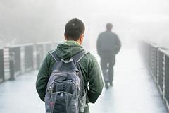 Fog (Derek Eckenroth) Tags: nature weather fog student candid foggy items studentlife ggg facilities imagetype walkinginthefog peopletypes glorygarden peoplestudent newkeywords bridgeofnations studentcandids typecandid bjukeywordset facilityggggodsglorygarden studentcandids