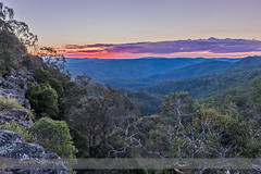Sunset Over New England Tablelands (Amazing Sky Photography) Tags: trees sunset australia nsw hdr gondwanaland eborfalls waterfallway newenglandtablelands guyfawkesnationalpark