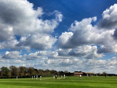 QEH School Playing Fields, Bristol (m.hunkin) Tags: greatbritain summer england sky weather bristol landscapes cricket cumulus cloudcover greenandpleasantland greatbritishsummer qehschool schoolscricket cricketskies