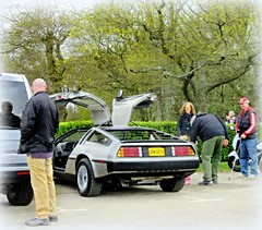 Catching the passing eye .. (John(cardwellpix)) Tags: uk corner back sunday fame surrey future april 12 guildford delorean 24th newlands dmc albury 2016 merrow
