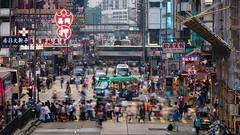 Argyle Street | Mongkok (dawvon) Tags: china road street city people urban hk trafficlights cars hongkong asia cityscape traffic snapshot crowd streetphotography pedestrian billboard snaps neonlights metropolis  kowloon mongkok  mk argylestreet