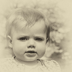 Angelic (Charliebubbles) Tags: family portrait canon vintage eos granddaughter grandchild angelic esme 60d canoneos60d silverefexpro2 210416 nikcollection
