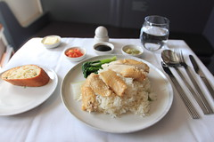 In-flight Meal - Singapore Airlines (A Sutanto) Tags: food chicken plane airplane lunch inflight singapore rice class business airline meal service airlines sq sia btc bookthecook