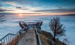 Hohe Wand - Skywalk (Wim Air) Tags: winter sunset cliff mountain snow colors sunrise austria rocks view wand lower bernhard hohe wimmer wimairat