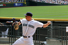 Monty in the 'pen (NJ Baseball) Tags: seattle washington mariners safecofield pregame seattlemariners americanleague 2015 daygame majorleagues mikemontgomery