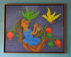Woman With Birds Painting Oaxaca (Ilhuicamina) Tags: woman art birds paintings pajaros artists oaxacan jalieza gerardonavarrogomez