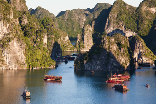Vietnam's famous Ha Long Bay can get very busy especially on weekends