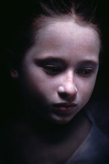 Helen Wein — Untitled (Payton 5), 2005. Painting: Oil and acrylic on canvas, 160 x 106 cm. Via Art of Darkness: Daily Art Blog (ArtAppreciated) Tags: inspiration art beautiful female portraits dark painting children sadness amazing shadows looking contemporary fineart down best blogs helen portraiture faves omg gaze wein yearning photorealism hyperrealism downcast artblogs tenebrism tumblr artoftheday artofdarkness artappreciated artofdarknessco artofdarknessblog