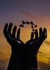 Hands & Molecules (Steve P131) Tags: sunset sculpture art hands molecules ramsgate