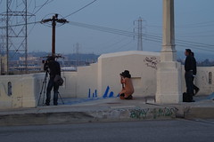 Photographers Capturing the afternoon Light (Joey Z1) Tags: losangeles photographers streetscene dtla urbanlife downtownlosangeles urbanscene photographersinaction lalife groupofphotographers laasseenbyjoeyz1 streetscenesla 6thstbridgela peopleonthe6thstreetbridge fromthebridgesene