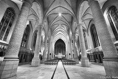 Notre Dame Luxembourg (Mark Griffith) Tags: bw work amazon amazoncom luxembourg silverefexpro2 sonya7rii 20160121dsc01746edit