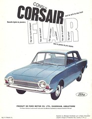 Ford Corsair (Hugo90-) Tags: auto ford car ads advertising automobile european voiture corsair catalog brochure consul