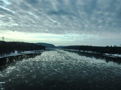 The Delaware River from our bus window (hopetownsound) Tags: newhope buckscounty delawareriver