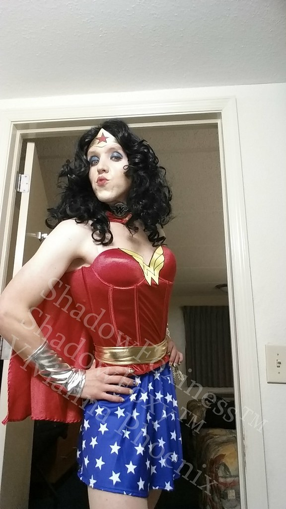Transvestite wonder woman