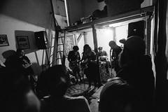 (. . .) Tags: chile show santiago light music white black blanco rock contraluz drums grey gris concert shadows angle y guitar no flash low guitarra negro wide indie bateria sombras 2016 monochromo