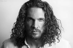 Joel (Rob Hall (Birchlight.co.uk)) Tags: portrait male monochrome beard curlyhair robinhall robhall trilbyspats birchlight birchlightcouk