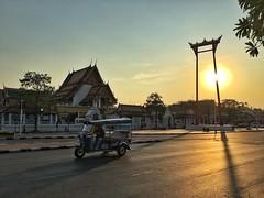 Trip to Bangkok. (Whity1201) Tags: trip travel sunset orange yellow scenery asia warm bangkok swing historical