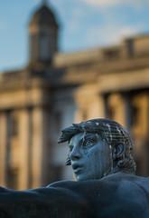 Up Close - A Trafalgar Square Fountain Statue (Olympus OMD EM5II & mZuiko 75mm F1.8 Prime) (markdbaynham) Tags: city urban london westminster square prime capital trafalgar evil olympus metropolis f18 omd csc oly mz 75mm londoner londonist m43 zd mft mirrorless micro43 microfourthirds micro43rd mzuiko m43rd em5ii zuikolic