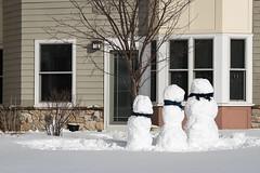 Trio of Snowpersons (Dick Wilson) Tags: winter snowmen overlook