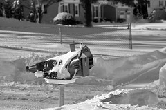 Day After Storm Jonas 03 - Transmission Mailbox (George - with over 2 mil views - THANKS) Tags: winter bw usa snow monochrome us blackwhite newjersey unitedstatesofamerica snowstorm january mercercounty ewing winterscene acdseepro photogeorge nikond750 winterstormjonas transmissionmailbox